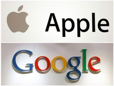 Apple and Google logo