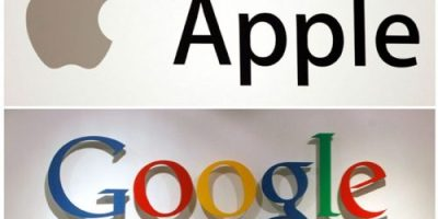 Apple and Google logo